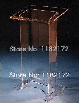 Бесплатная доставка Дешевые Уникальный Дизайн Горячая продажа и современная изготовленная на заказ акриловая Трибуна lectern