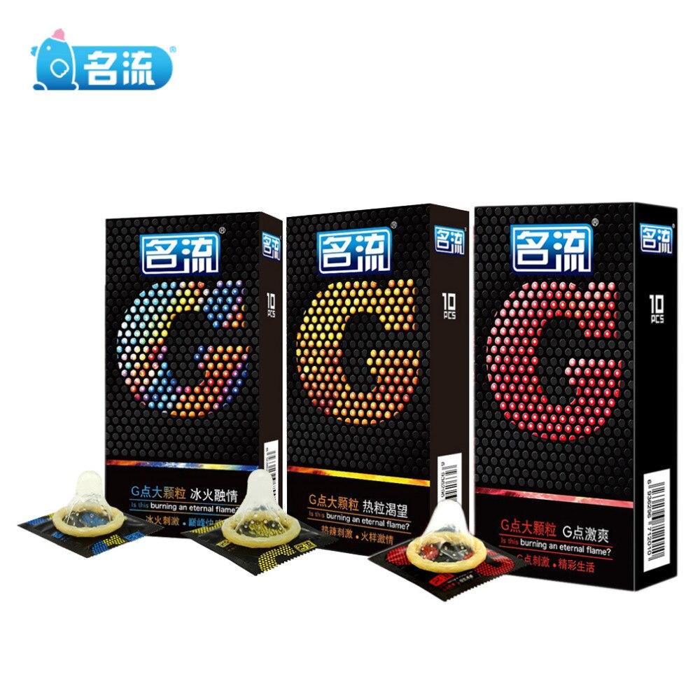 10 Pcs / 3pcs Mingliu G Spot Condoms Big Particle Stimulation G-point Penis Sleeve Delay Ejaculation Condones Contraception Men