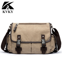 Men S Durable Vintage Canvas Messenger Bags Single Shoulder Bags Handbag Leisure Work Travel Outing Business