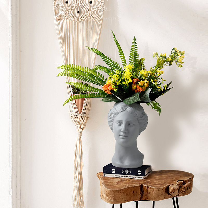Venus Goddess Vase Abstraction Flower Bouquet Ceramic Art&Craft Roman Mythology Desktop Soft Living Room Decoration L2906Venus Goddess Vase Abstraction Flower Bouquet Ceramic Art&Craft Roman Mythology Desktop Soft Living Room Decoration L2906