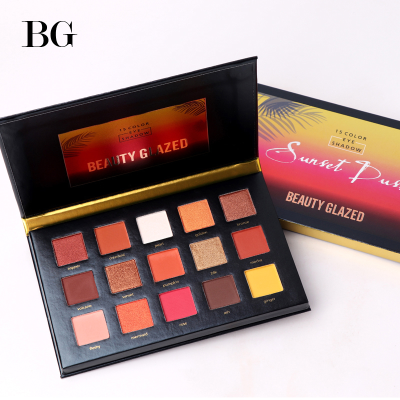 BEAUTY GLAZED 15 Color Eyeshadow Pallete Make up Long-lasting Eye Shadow Matte Easy to Wear Makeup Palette paleta de sombra african fashion shoes with matching bag set for wedding party italian design nigeria women pumps shoes and bags mm1060