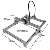 Disassembled New LY 10W Laser 10000MW Diy Laser Engraving Machine 30 40cm Metal Engraver Marking Machine