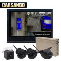 Carsanbo 360 3D автомобильный объемный вид система авто птичий вид панорама DVR система 4 камеры HD 1080 P Автомобильный dvr парковочная помощь