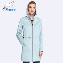 2017 woman clothing solid color long sleeved casual  women coat stand collar pockets trench coat 17g122d