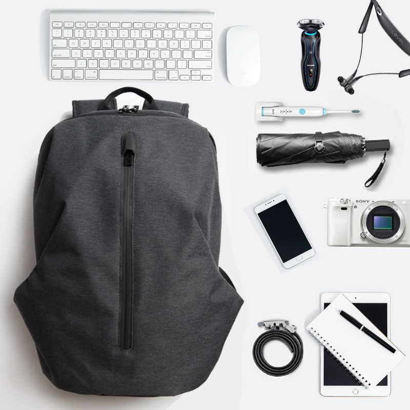 FYUZE עמיד למים ניילון תרמיל לגברים 15.6 אינץ 17 מחשב תרמיל זכר מגניב תרמילי מחשב נייד פנאי נסיעות תיק אנטי גנב