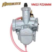 PowerMotor Motorcycle VM22 Mikuni Carburetor For 110cc 125cc 140cc Dirt Bike Atv Pz26 Horizontal Engine Performance Carburetor