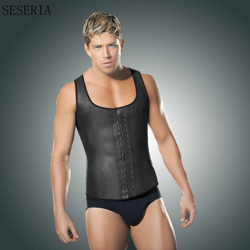 SESERIA Plus size waist corset men sexy Vest sweat work out waist trainer waist cinchers sauna suit hot shaper body