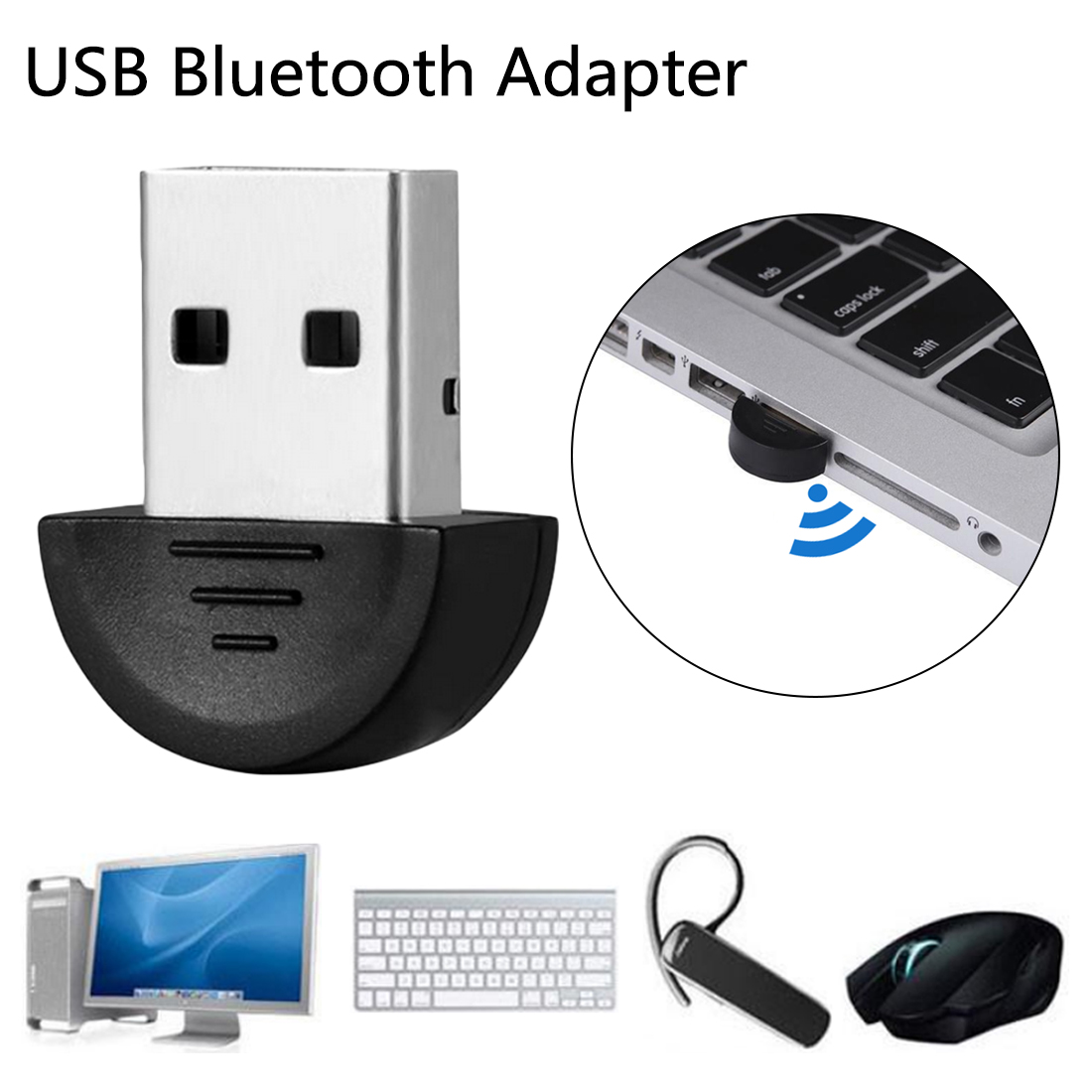 Mini USB Bluetooth Adapter V2.0 CSR Dual Mode Wireless Bluetooth Dongle 2.0 Transmitter For PC Laptop Win XP Vista7/ 8/10