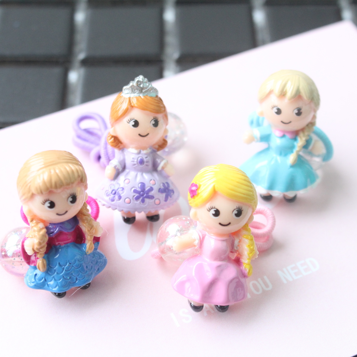 New Fine Resin Princess Girls Hair Accessories Children Headwear Kids Elastic Hair Bands Ropes Baby  Headdress