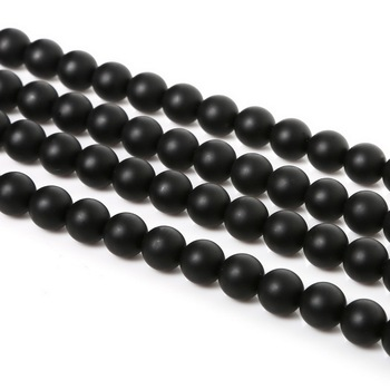4 6 8 10mm Natural Stone Beads Matte Lava Tiger Eye Red Black Onxy  Loose Stone Beads For Jewelry Making DIY Bracelet Necklace 23