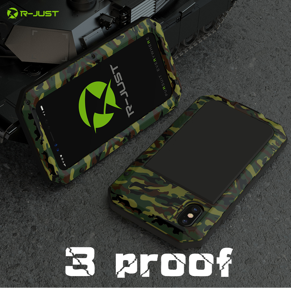 For iPhone X Tactical Waterproof Case (3)