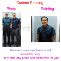 Hand Painted Custom Portrait Painting Customized Oil Painting Reproduction Canvas Pictures 100% Handmade From Photos Unframed