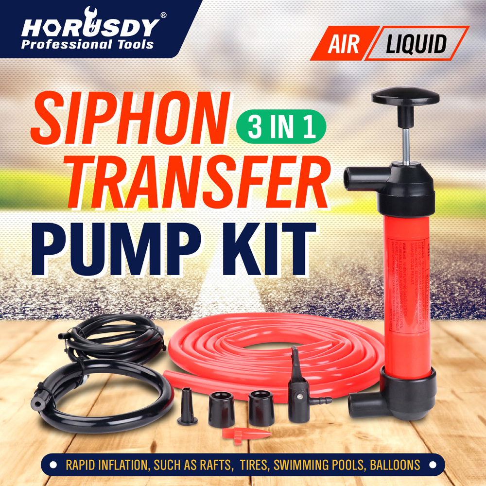 HORUSDY Car styling Car Siphon Hose Gas Oil Portable Liquid Transfer Water Hand Pump Plastic Hand Pump Pipe Manually Liquid original access control card reader without keypad smart card reader 125khz rfid card reader door access reader manufacture