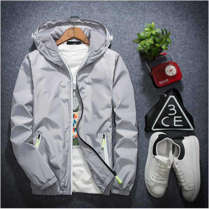 2018 Tide Brand Jacket Men Women 3m Reflective Jacket Casual Hiphop WindBreaker Night Sporting Coat Hooded Fluorescent Clothing