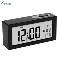 1pcs Digital Alarm Clock Student Table Clock Large LCD Display Snooze Electronic Kids Clock Light Sensor