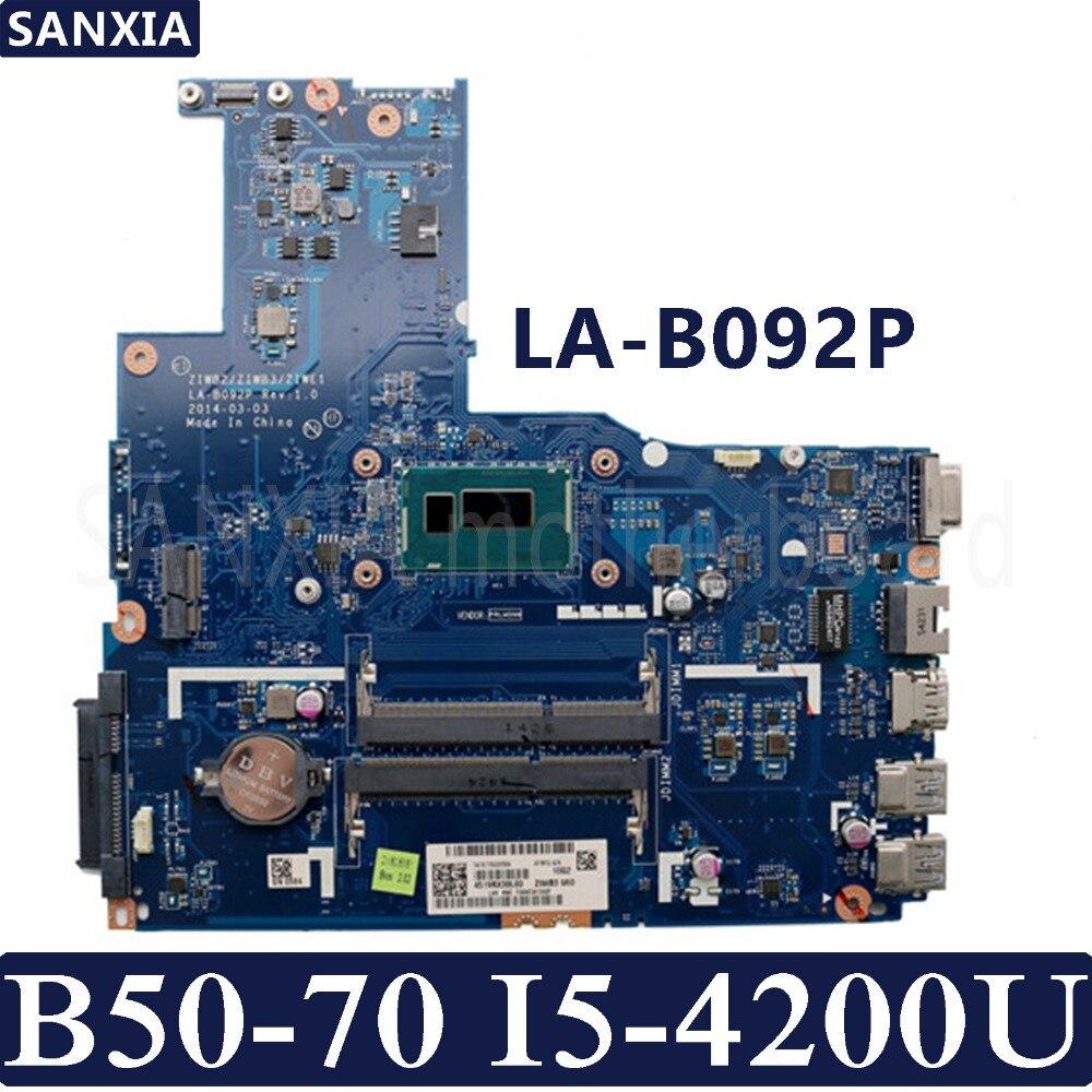 KEFU ZIWB2 ZIWB3 ZIWE1 LA B092P Laptop motherboard for Lenovo B50 70 Test original mainboard I5