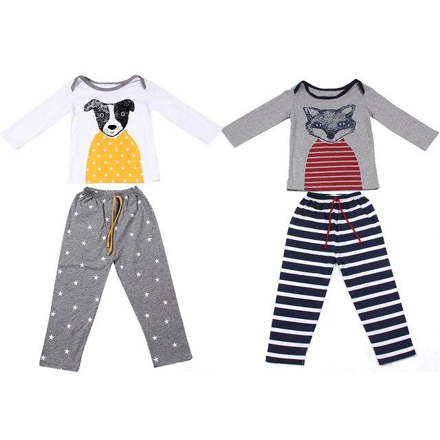 e247935c158ad 2 pcs À Manches Longues T-shirt + Pantalon De Mode Bébé Filles Garçons  Vêtements