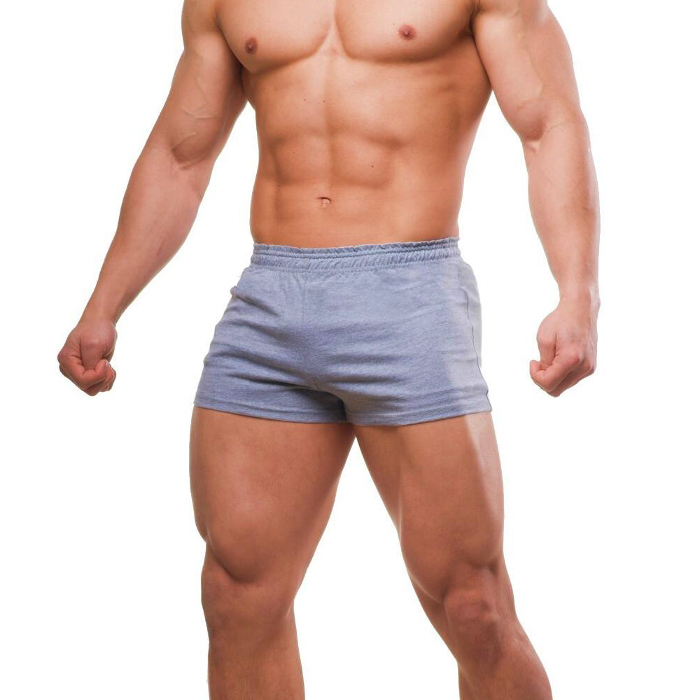 Bodybuilding Shorts Joggers Bermudas Fitness-Workout Cotton Casual Solid for Male Sexy
