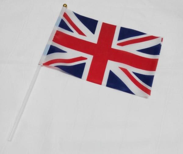 12 stycken ett dussin av Storbritanniens handflaggor som inte bleknar - Heminredning