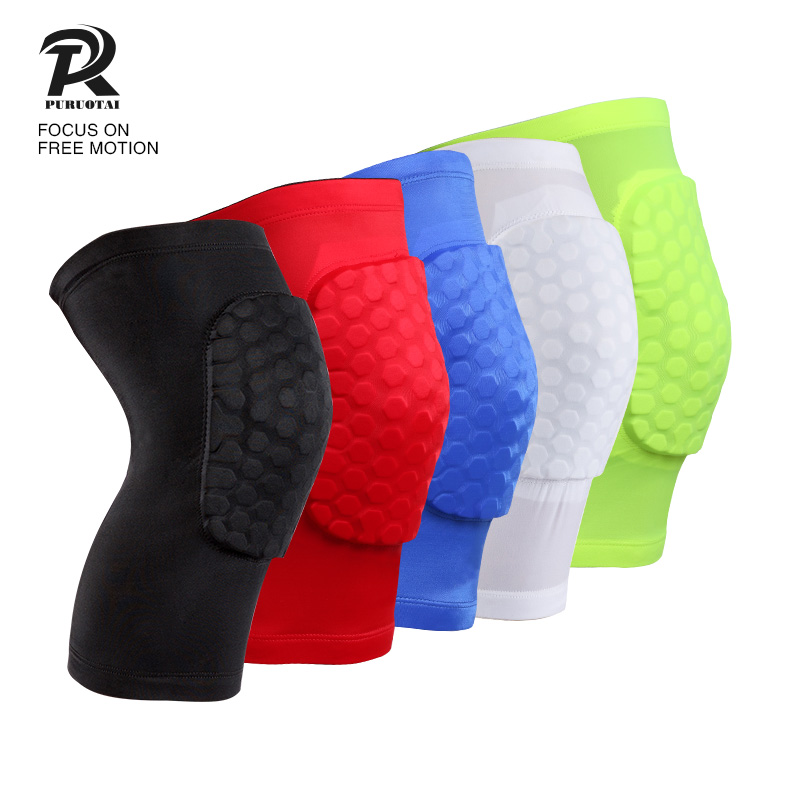 1 Piece soft breathable knee sleeve volleyball runners football wearproof spandex anti-collision knee guard