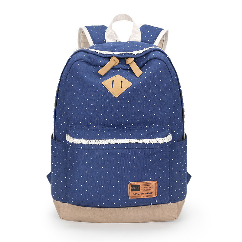 Sunborls Women Japanese School Bags for Teenage Girls Dot Cute Bookbags Vintage Laptop Backpacks Female Bolsas