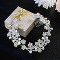 2016 новый Корейский невесты невесты ювелирные изделия Перлы Rhinestone Tiara Comb гребень оптовых производителей, продающих аксессуары