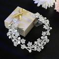 2016 nueva Corea joyería de Perlas de novia de la novia accesorios Rhinestone Tiara Comb peine al por mayor fabricantes que venden