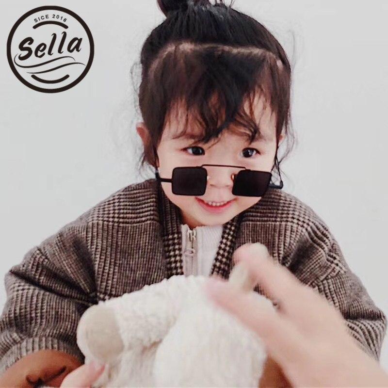 Sella New Arrival Fashion Retro Steampunk Children Sunglasses Small Squre Frame Unique Cool Kids Cutie Boys Girls Sun Glasses