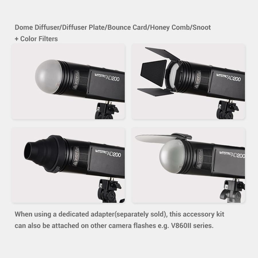 Godox AK-R1 schuurdeur, snoot, kleurenfilter, reflector, honingraat, - Camera en foto - Foto 5