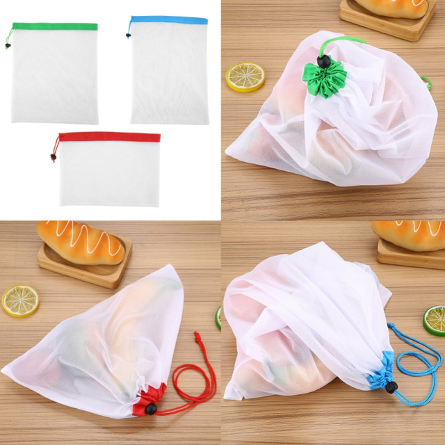 Reusable Vegetable Fruit Mesh Bags 16 Pcs Set