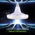 1 PCS Super Bright LED Lâmpada 25 W 35 W 50 W SMD 5730 LED Plana lâmpada Luz 220 V 230 V E27 UFO LEVOU Luz de Poupança de Energia para a Casa iluminação