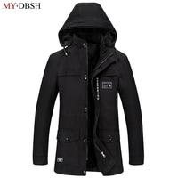 2018 Fashion Cotton Hooded Winter Jacket Men Warm 6XL Long Parka Hooded Jackets Man Coats Casual Fur Down Parkas Mens Parkas