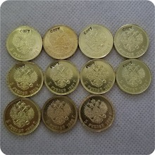 1886-1894 RUSSIA Alexander III 5 ROUBLES GOLD Copy Coin commemorative coins-replica coins medal coins collectibles