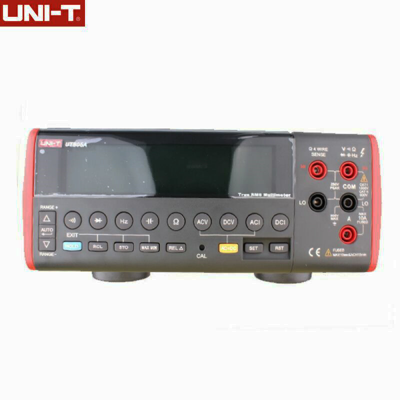UNI-T UT805A Bench Type Digital Multimeters 199999 Counts True RMS Auto Range Meters DMM Volt Amp Ohm Cap. HZ Testers with RS232 uni t ut804 lcd display bench type digital multimeters volt amp ohm capacitance hz 39999 counts tester high accuracy