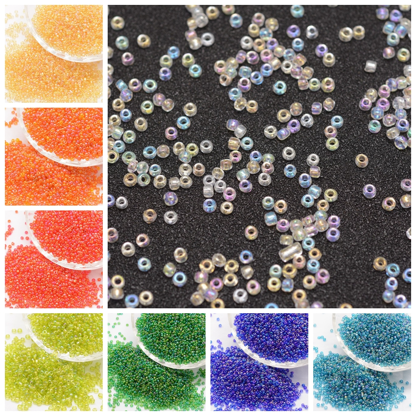 6/0, 8/0 Transparent Colours Rainbow Round Glass Seed DIY Making Bijoux Handmade Jewelry Small Loose Beads, Grade A