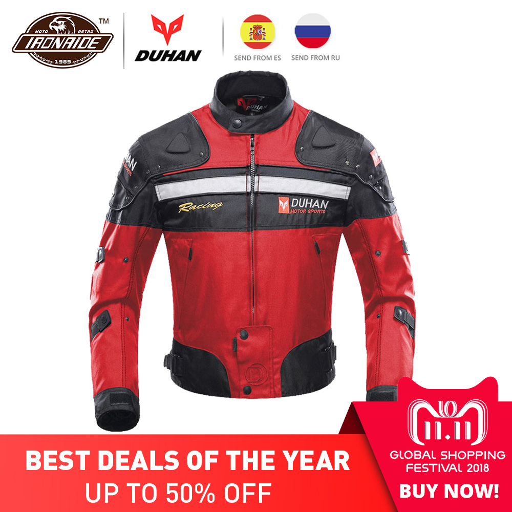 DUHAN Motorcycle Jacket Motorbike Racing Jacket Moto Windproof Autumn Winter Motorcycle Protection Clothing Body Protector Armor duhan autumn winter motorcycle jacket motorbike racing jacket moto windproof motorcycle protection clothing body protector armor