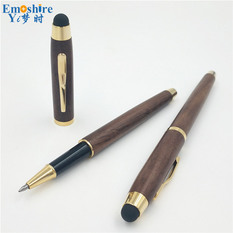 Unique Design Touch Ballpoint Pen Custom High-end Business Gifts Wooden Ballpoint Pen for Writing School Office Supplies P207