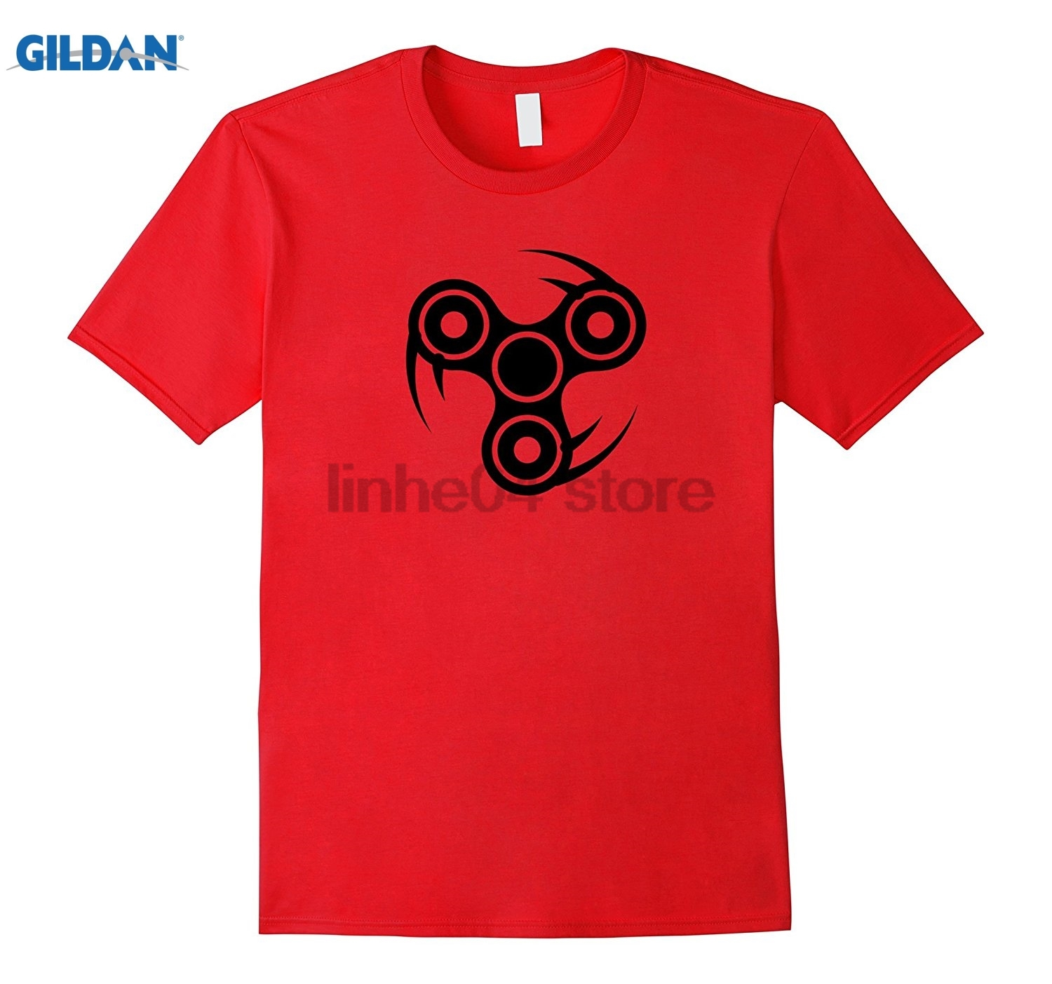 GILDAN Professional Spin Ninja Fidget Spinner Shirt Icon Logo Toy Hot Womens T-shirt ...