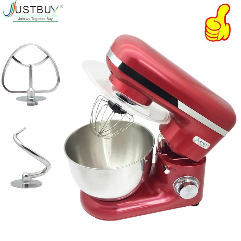 1500 W 4L Roestvrijstalen Kom 6 speed Keuken Voedsel Stand Mixer Crème Ei Garde Blender Cake Deeg Brood mixer Maker Machine-in Mixer van Huishoudelijk Apparatuur op  Groep 1