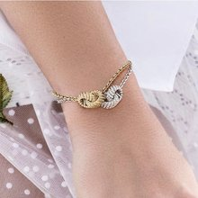 Hot Sales Women Wedding 925 Sterling Silver Round Lucky Beads Bracelet Zircon AP Design Chain Bracelet Wedding jewelry(China)