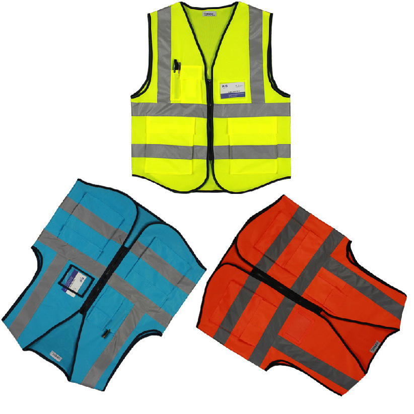 Car Motorcycle Reflective Safety Clothing High Visibility Safety Vest Warning Coat Reflect Stripes Tops Jacket