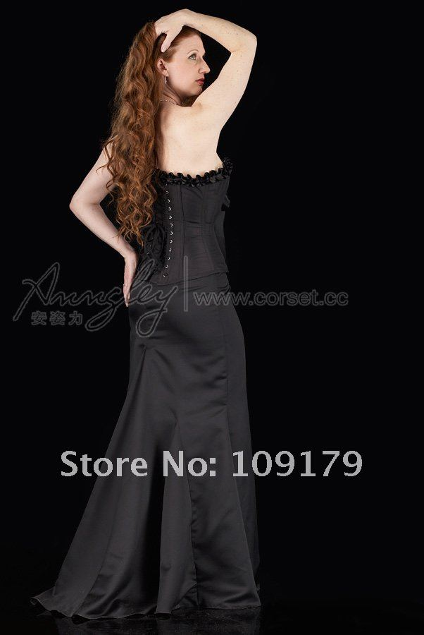 Aliexpress.com : Buy Classic Retro Black Long Corset Dress from ...