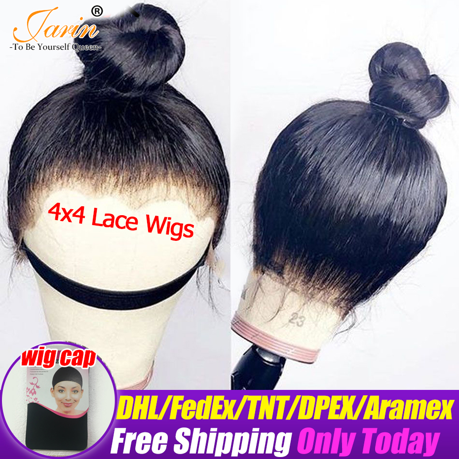4x4 Lace Wigs 100 Human Hair Brazilian Straight Hair Wig Remy Lace Wig For Black Women