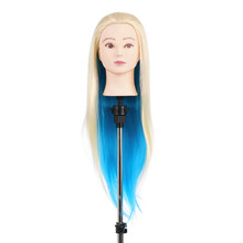 "27"" Hair Mannequin Head Natural Animal Fiber Wig Head Dummy Mannequin Hairdresser Mannequin Head Professional Styling Head(China)"
