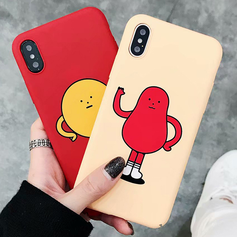 Fashion Cute For Apple iPhone 6 6s 7 8 Cartoon character Phone Cases Hard plastic PC Back Cover For iPhone 6 6s 7 8 X Plus Case
