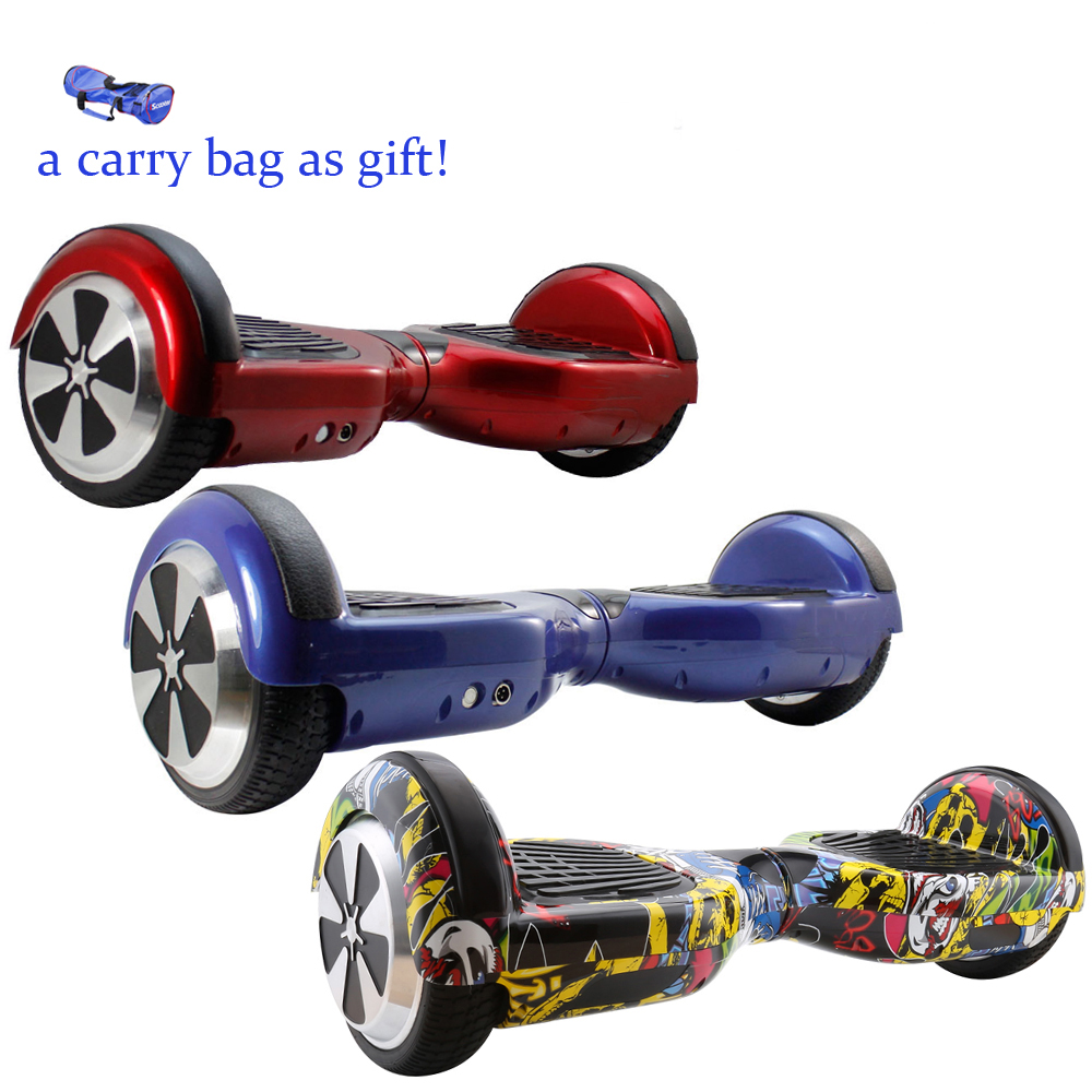 4 Colors 6.5 Inch Hoverboard self balcance scooter Two Wheels Self Balance Scooter Hover Board With Carry Bag Free shipping app controls hoverboard new upgrade two wheels hover board 6 5 inch mini safety smart balance electric scooter skateboard