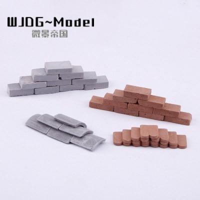 Model Bricks High Temperature Firing  Red Brick Set DIY Sand Table Building Military Model Scene AccessoriesA Variety Of Speci