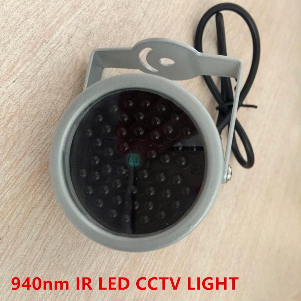 940nm IR LED iluminador Iluminação De Segurança 48PCS INSIVIBLE LED Infravermelho Para Visão Noturna luz de Preenchimento Câmera de Vigilância CCTV