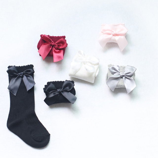 Cute Knee High & Short Anklet Socks with a Bow | Autumn 2017 Collection