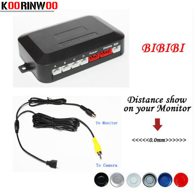 Koorinwoo Dual Core CPU Car Parking Assist Sensor Reverse Radar Video all in one System Connect